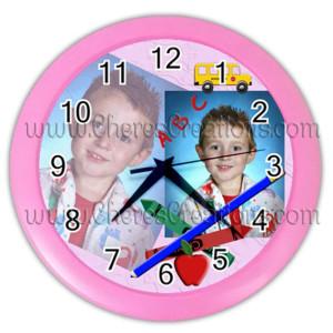 school-clock-pink