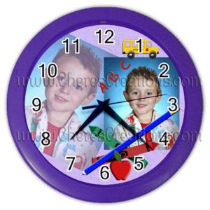 school-clock-purple