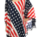 Stars and Stripes Poncho Scarf