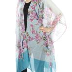 Cherry Blossom Print Kimono Style Scarf