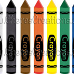 Crayons Digital Clip Art